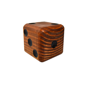Wooden Jumbo Dice (1 – Dark)