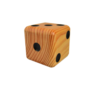 Wooden Jumbo Dice (1 – Natural)
