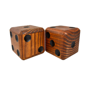 Wooden Jumbo Dice (2 – Dark)