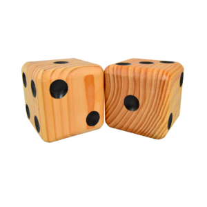 Wooden Jumbo Dice (2 – Natural)