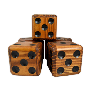 Wooden Jumbo Dice (5 – Dark)