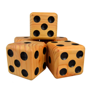 Wooden Jumbo Dice (5 – Natural)